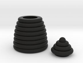 Mini Beehive box in Black Natural Versatile Plastic