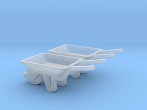 WheelBarrow 2 Pack S Scale in Smooth Fine Detail Plastic