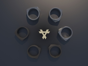 Qx2 - Ring / Size 8 in Black Strong & Flexible