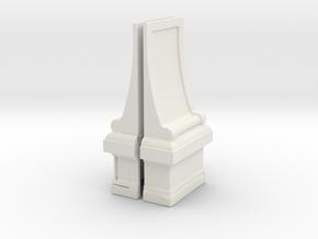 Modesto Arch Pillar Back in White Natural Versatile Plastic
