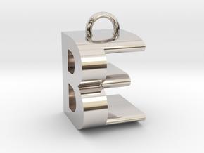 BE Monogram [pendant] in Rhodium Plated Brass
