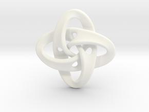 Sphere Eversion (small version) in White Premium Versatile Plastic