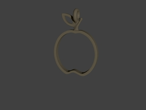 Apple Pendant in Polished Gold Steel