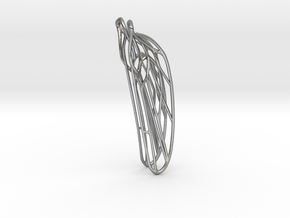 Dragonfly ear wing S Odonata N° 1 in Natural Silver
