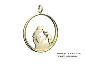 Mother & Son Pendant 2 -Motherhood Collection in 18K Gold Plated