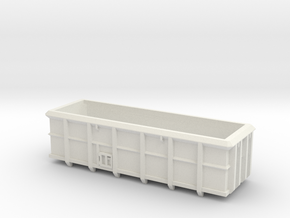 ASW Scrap Wagon PO-016a OO Gauge in White Natural Versatile Plastic
