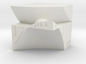 "M-04: ""Manhattanhenge"" by Studio Wassman in White Natural Versatile Plastic"