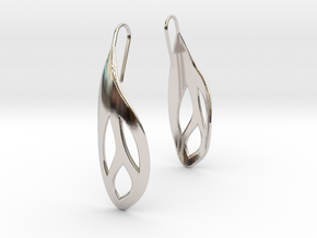 Flos earrings in Platinum