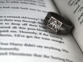 Deathly Hallows Ring Size 5 in Stainless Steel