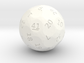 d41 oddball die in White Strong & Flexible Polished