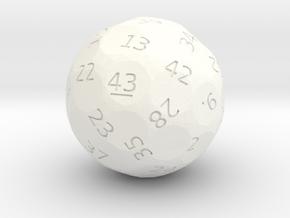 d43 oddball die in White Processed Versatile Plastic