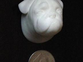 Pug Ornament in White Natural Versatile Plastic