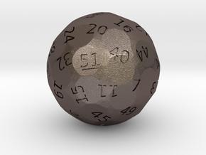 d51 oddball die in Polished Bronzed Silver Steel