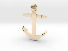 Boat anchor [pendant] in 14k Gold Plated Brass