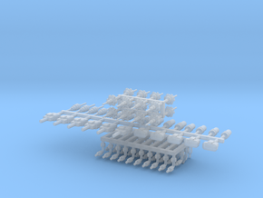 Connector collection 1-12 in Smooth Fine Detail Plastic