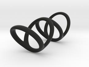 Ring for Bob L1 1 L2 1 D1 3 1-2 D2 4 1-2 D3 5 1-2 in Black Premium Strong & Flexible
