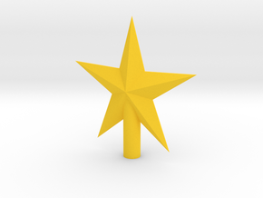 Star Wand Tip in Yellow Processed Versatile Plastic