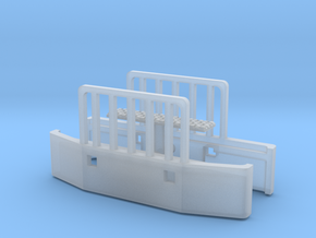 1/64th Holmes style push bumpers with rubber pad in Smooth Fine Detail Plastic