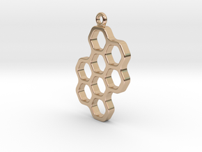 Honeycomb pendant in 14k Rose Gold Plated Brass