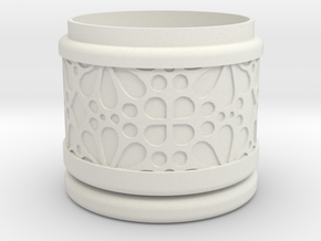 Gift Box round No. 1 with Mosaik-3 (solid, short) in White Strong & Flexible