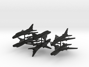 1/220 Sukhoi Su-22 (x6) in Black Natural Versatile Plastic