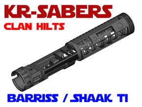KR-S Clan Hilts - Barriss / Adi / Shaak Ti Chassis in White Natural Versatile Plastic