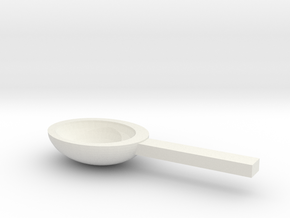 Spoon in White Natural Versatile Plastic