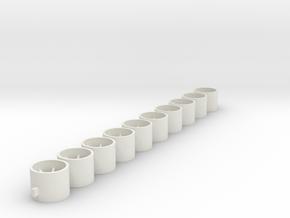 Flachfelge 10x8x238 in White Natural Versatile Plastic