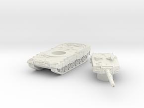 Leopard II tank (Germany) 1/220 in White Natural Versatile Plastic