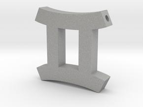 Gemini Symbol Pendant in Aluminum