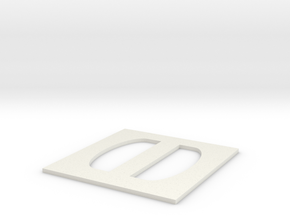 Simple Large Buckle in White Natural Versatile Plastic