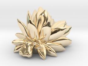 Costasiella Kuroshimae_yellow in 14k Gold Plated Brass: Small