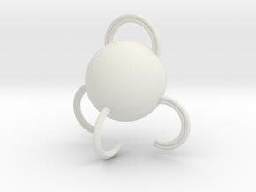 Portable hook in White Natural Versatile Plastic: Medium