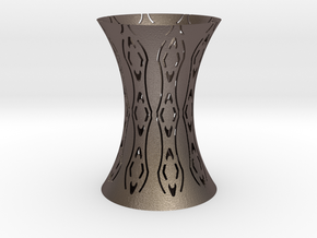 Designer Vase in Polished Bronzed Silver Steel