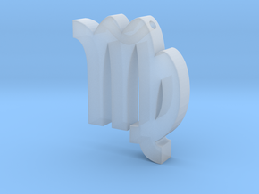 Virgo Symbol Pendant in Smooth Fine Detail Plastic