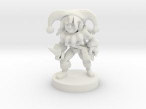 Halfling Female Clown Rogue in White Natural Versatile Plastic