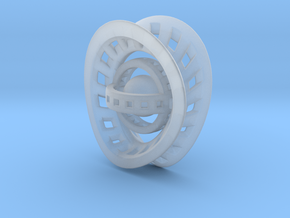 RingX in Smooth Fine Detail Plastic: Small