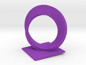 Mobius Trophy (thick) in Purple Processed Versatile Plastic