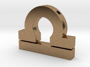 Libra Symbol Pendant in Natural Brass