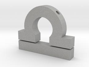 Libra Symbol Pendant in Aluminum