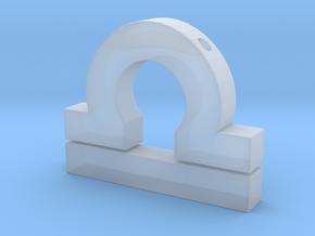 Libra Symbol Pendant in Smooth Fine Detail Plastic