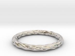 Valley Series Bracelet 69mm in Rhodium Plated Brass