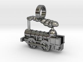 Locomotive Coppernob Jewellery Pendant in Polished Silver