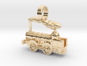 Locomotive Coppernob Jewellery Pendant in 14K Yellow Gold