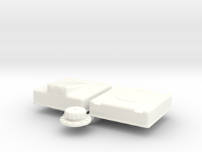 1/18 Fuel Cell RJS-5g-13-13-8-Sump in White Processed Versatile Plastic
