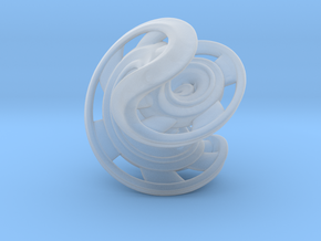 Ring X2 in Smooth Fine Detail Plastic: Small