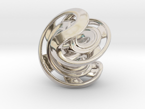 Ring X2 in Rhodium Plated Brass: Small