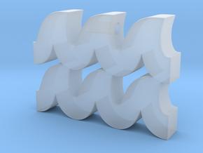 Aquarius Symbol Pendant in Smooth Fine Detail Plastic