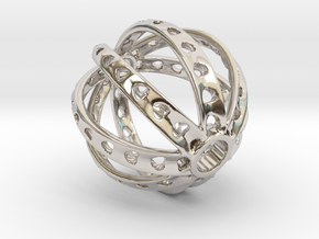 Ring X3 in Rhodium Plated Brass: Small