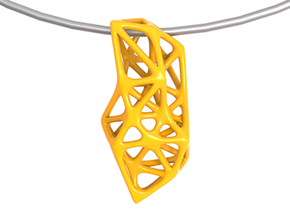 Exo Pendant 1.0 in Yellow Processed Versatile Plastic